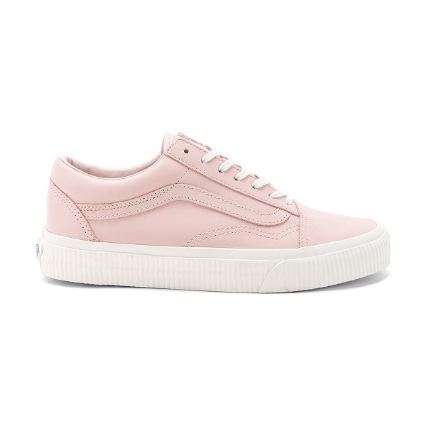 Vans Old Skool Sneaker in blush - Leather upper with rubber sole. Lace-up front. Vans...