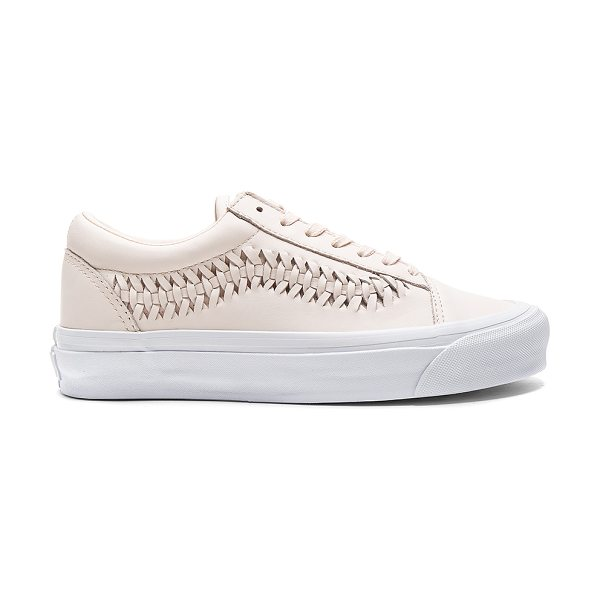 Vans Old Skool Weave DX Sneaker in blush - Leather upper with rubber sole. Lace-up front. Woven...
