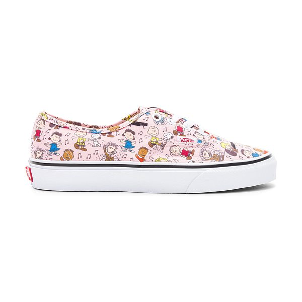 VANS Peanuts Authentic Sneaker - Printed textile upper with rubber sole. Lace-up front....