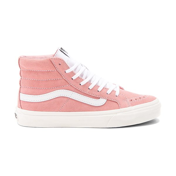 VANS Retro Sport Sk8-Hi Slim Sneaker - Suede and canvas upper with rubber sole. Lace-up front....
