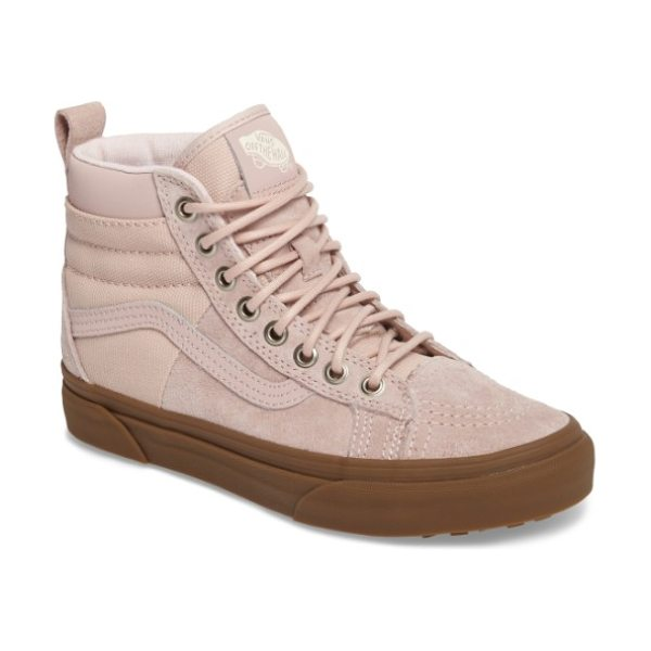 Vans sk8-hi 46 mte dx sneaker in sepia rose/ gum - This revamp of an iconic silhouette features a...
