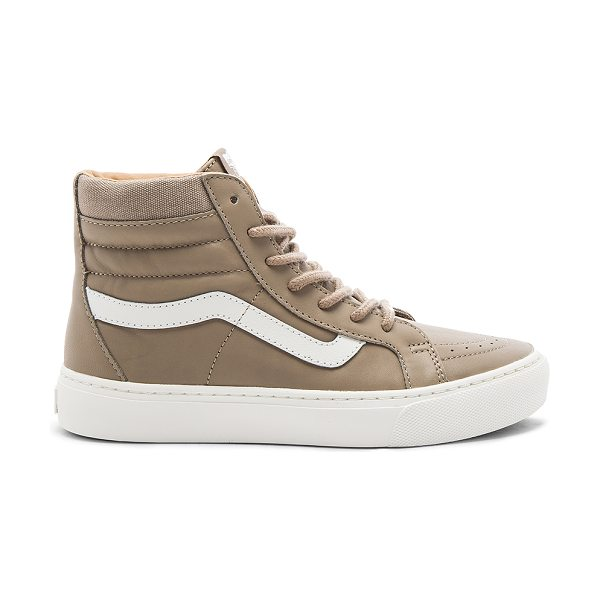 VANS SK8-HI Cup Sneaker in desert taupe & blanc de blanc - Leather upper with rubber sole. Lace-up front. Canvas...