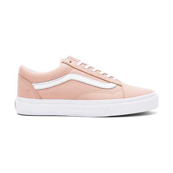 Vans Tumble Leather Old Skool DX Sneaker in tan - Leather upper with rubber sole. Lace-up front. Vans...