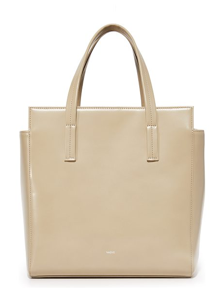 Vasic Collection steady satchel in pale beige - A spacious Vasic Collection bag in a boxy profile. A...