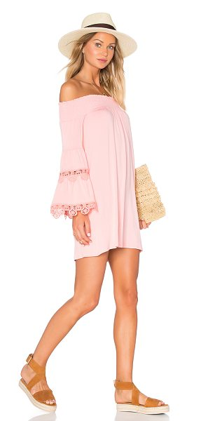 VAVA BY JOY HAN Bambi Dress in pink - 95% viscose 5% spandex. Dry clean only. Unlined. Smocked...
