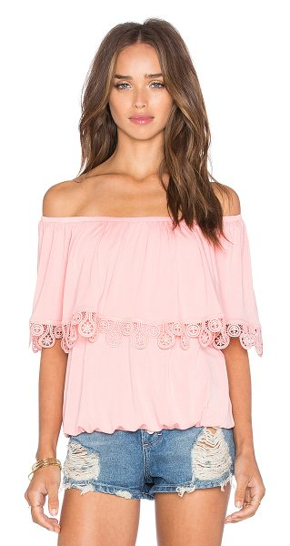 VAVA by Joy Han Bambi off shoulder top in pink - Modal blend. Dry clean only. Elastic neckline and hem....