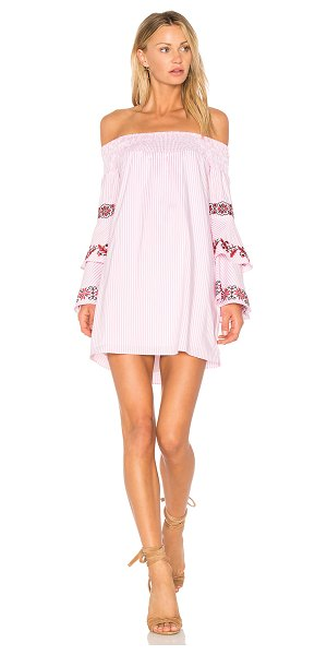"""VAVA by Joy Han Beatrice Dress in pink - """"65% poly 30% cotton 5% spandex. Dry clean only. Fully..."""
