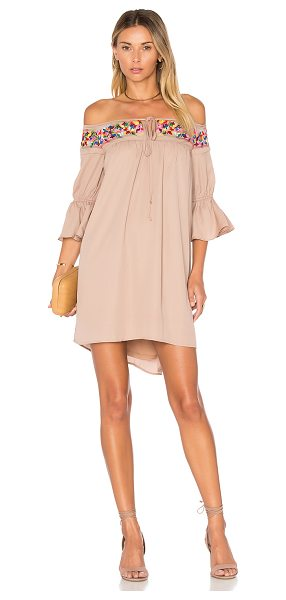 VAVA by Joy Han Britney Dress in tan - Shell & Lining: 100% poly. Dry clean only. Fully lined....