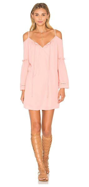 VAVA by Joy Han Jayne Dress in peach - 100% poly. Dry clean only. Fully lined. Front keyhole...