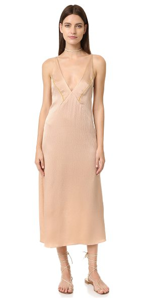 VEDA Veda Calla Dress in blush - A lingerie inspired VEDA dress, composed of hammered...