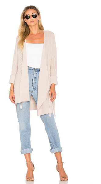 Velvet by Graham & Spencer Alison Cardigan in nude - Cotton blend. Dry clean only. Wrap front with tie...