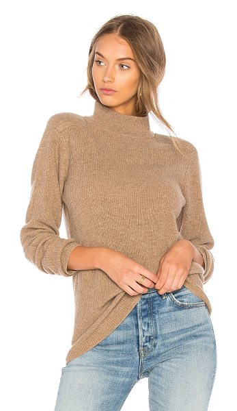 Velvet by Graham & Spencer Bailee Turtle Neck Sweater in brown - Cashmere blend. Dry clean only. Rib knit fabric....