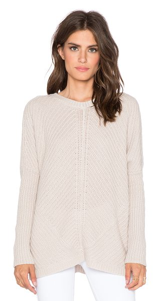 Velvet by Graham & Spencer Elke cashmere blend sweater in beige - Cashmere blend. Ribbed trim. Dolman sleeves....