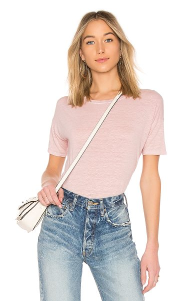 Velvet by Graham & Spencer India Top in pink - Cotton blend. Burnout fabric. Side seam slits....