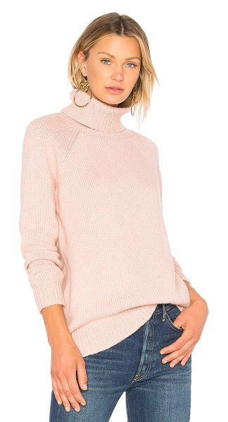 VELVET BY GRAHAM & SPENCER Saphirra Sweater in pink - Cashmere blend. Dry clean only. Rib knit edges....