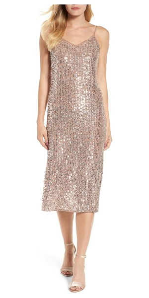 Velvet by Graham & Spencer sequin slipdress in deep taupe - This dazzling sequined maxi boasts serious head-turning...