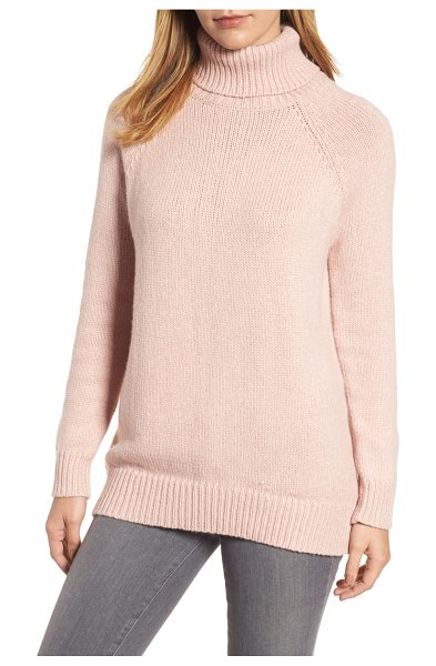 Velvet by Graham & Spencer textured turtleneck sweater in beige - Supersoft and cozy, this boxy turtleneck is perfect for...