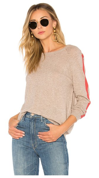 Velvet by Graham & Spencer Torie Sweater in beige - Cotton blend. Hand wash cold. Marled knit fabric. Rib...