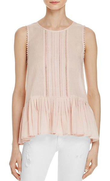 Velvet by Graham & Spencer Velvet by Graham & Spencer Kaydin Peplum Top in soft pink - Velvet by Graham & Spencer Kaydin Peplum Top-Women