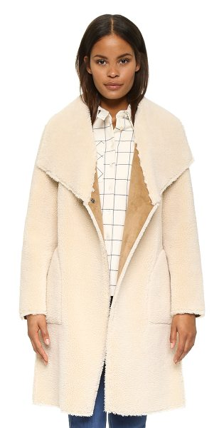 Velvet Drape faux shearling jacket in cream - This cozy sherpa Velvet jacket is lined in soft...