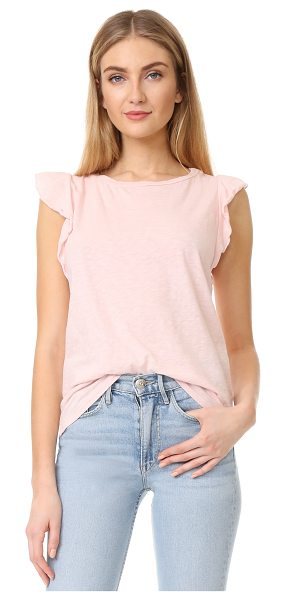 Velvet marylou top in rosetta - Ruffled sleeves lend a charming finish to this soft...