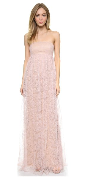 Vera Wang Strapless lace gown in blush - This romantic Vera Wang Collection gown is crafted in...