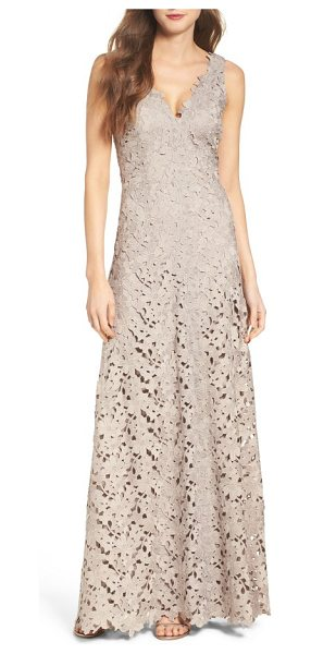Vera Wang lace gown in taupe - This ageless A-line gown is neutral, versatile and so,...