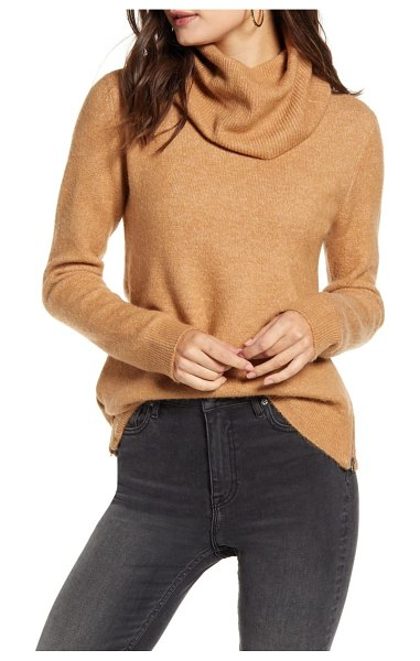 Vero Moda blakely cowl neck sweater in brown