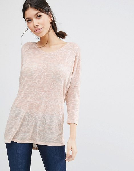 Vero Moda Classic gray marl t-shirt in pink - Top by Vero Moda, Lightweight fine gauge knit, Round...