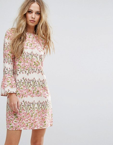 Vero Moda Floral Print Shift Dress in pink