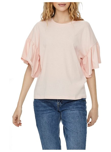 Vero Moda heni rebecca ruffle sleeve top in pink