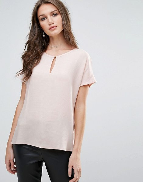"Vero Moda Keyhole Blouse in pink - """"Top by Vero Moda, Lightweight woven fabric, Scoop..."