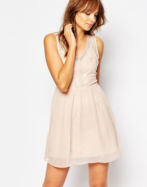 "Vero Moda Lace Detail Dress in pink - """"Dress by Vero Moda, Lightweight woven fabric,..."