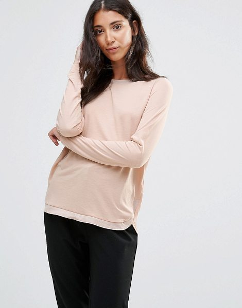 Vero Moda Sand Long Sleeve T-Shirt in pink - Top by Vero Moda, Soft touch jersey, Scoop neckline,...