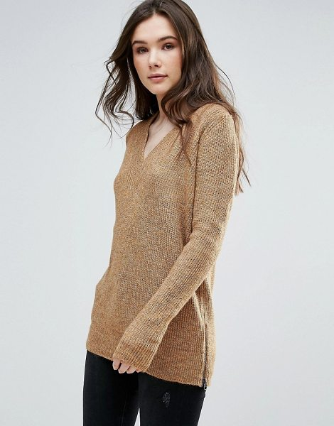 "VERO MODA Sweater With V Neck - """"Sweater by Vero Moda, Soft-touch knit, V-neck, Long..."