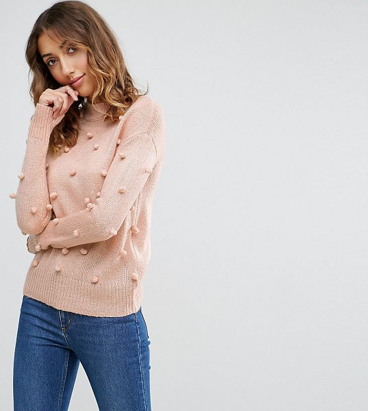 "Vero Moda Tall Bobble Knitted Sweater in pink - """"Tall sweater by Vero Moda Tall, Chunky knit, High..."