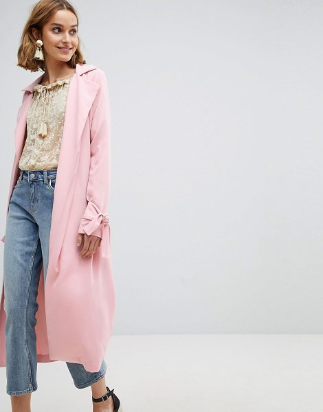 Vero Moda trench coat in pink - Coat by Vero Moda, It'll see you through those tricky...
