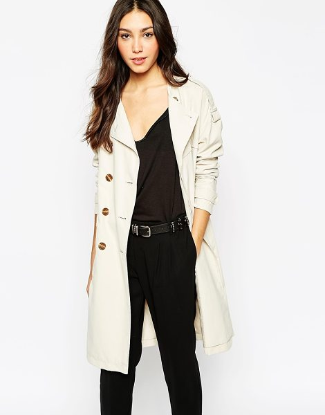 VERO MODA Trench coat in oatmeal - Trench by Vero Moda Smooth-touch, woven fabric Fully...