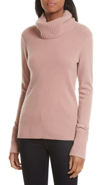 Veronica Beard asa cashmere turtleneck in blush - A slouched turtleneck tops this effortlessly elegant...