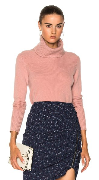 Veronica Beard Asa Turtleneck in blush - 100% cashmere. Made in China. Dry clean only. Rib knit...