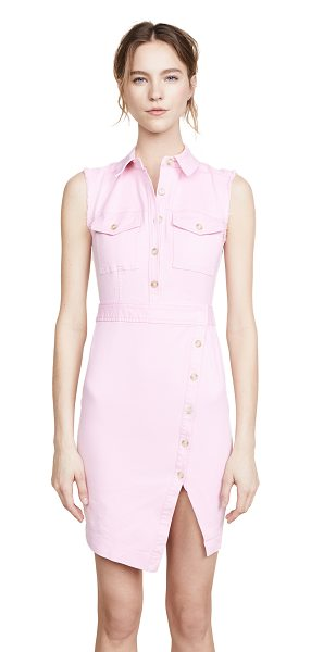 Veronica Beard britton sleeveless dress in millenial pink - Exclusive to Shopbop Fabric: Twill Frayed arm openings...