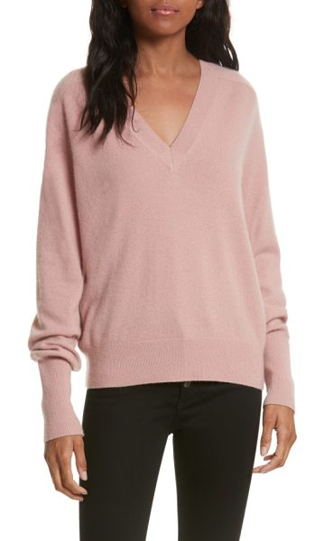 Veronica Beard deacon cashmere sweater in blush - Veronica Beard is a go-to label for wardrobe classics...
