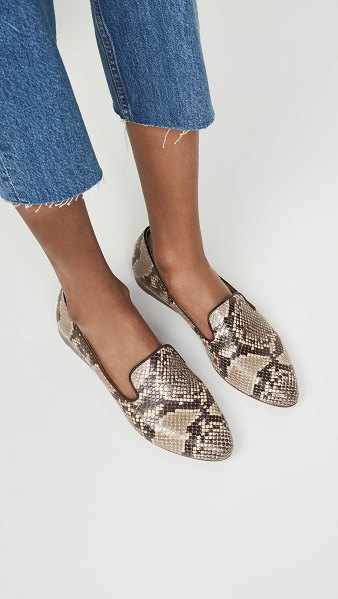 Veronica Beard griffin loafers in taupe