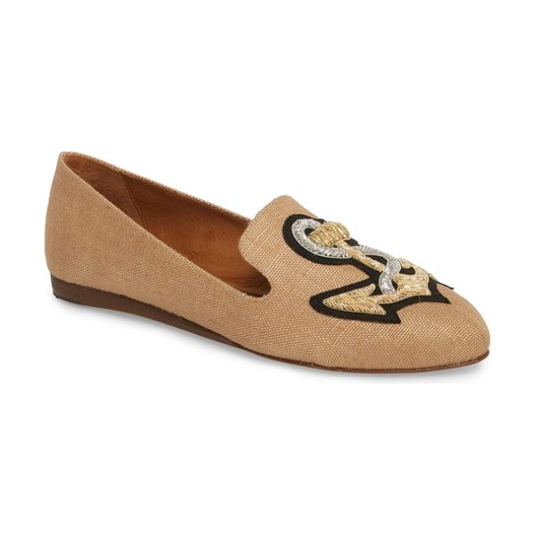 Veronica Beard griffin pointy toe loafer in natural - A loafer in supple nappa leather keeps it classic with a...