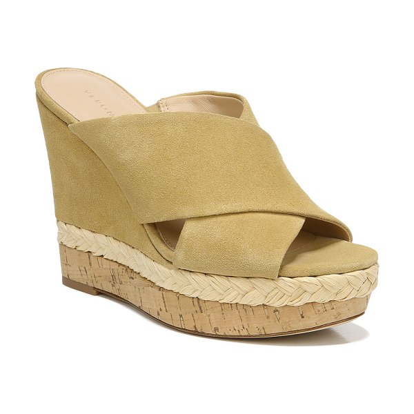 Veronica Beard Loro Suede Wedge Espadrilles in desert