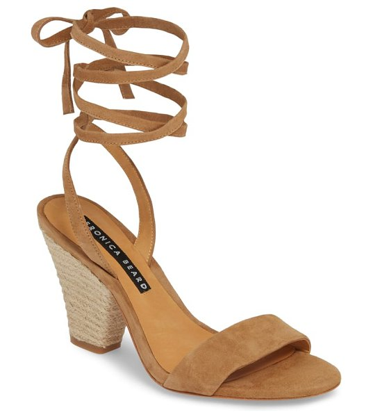 Veronica Beard remy lace-up sandal in brown