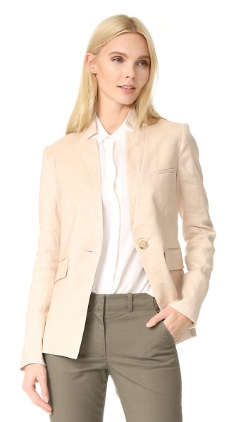 Veronica Beard upcollar jacket in beige