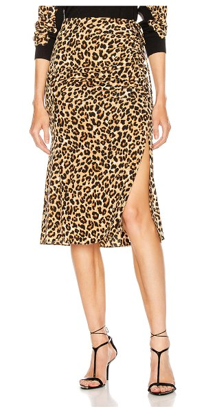 Veronica Beard vanity skirt in leopard