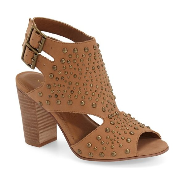 Very Volatile anamaria studded sandal in tan leather - Mixed-scale dome studs pepper the smooth leather of a...