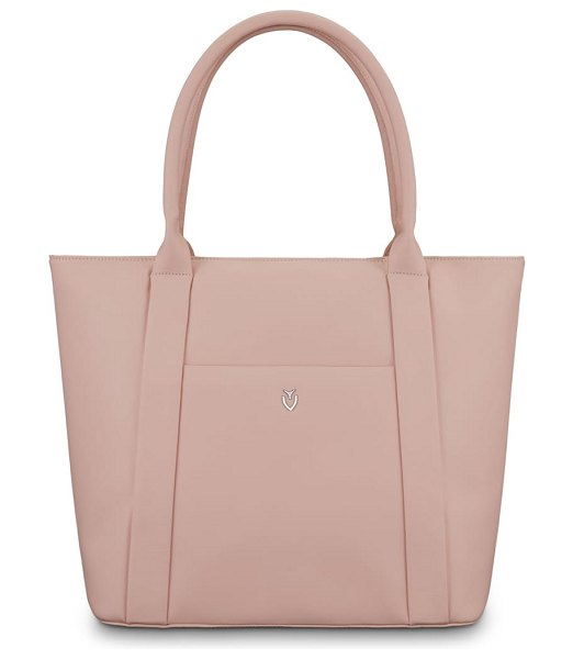 Vessel signature 2.0 large faux leather tote bag in pink